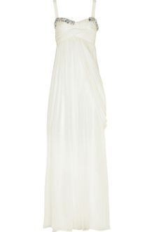 Matthew Williamson Embellished Silk-chiffon Gown - Lyst