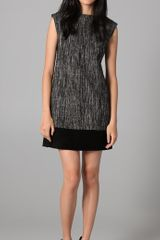 Milly Cecilia Tweed Shift Dress - Lyst