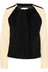 3.1 Phillip Lim Shearling and Leather Varsity Jacket - Lyst