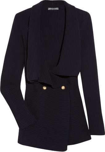 Alexander McQueen Draped Wool and Cashmere-blend Cardigan - Lyst