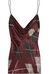 Altuzarra Bay Plaid-print Silk Top - Lyst