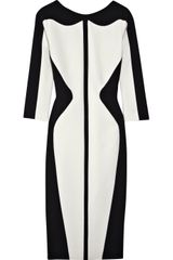 Antonio Berardi Two-tone Stretch-wool Dress - Lyst