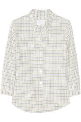 Boy by Band Of Outsiders Shrunken Checked Cotton Shirt - Lyst