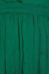 Gucci Silkvoile Asymmetric Dress in Green (emerald) - Lyst