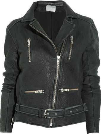 Iro Textured Nappa Leather Biker Jacket - Lyst