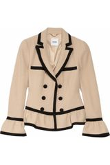 Moschino Wool-blend Bouclé Peplum Jacket - Lyst