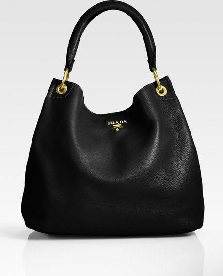 Black Handbag: Prada Black Hobo Handbag