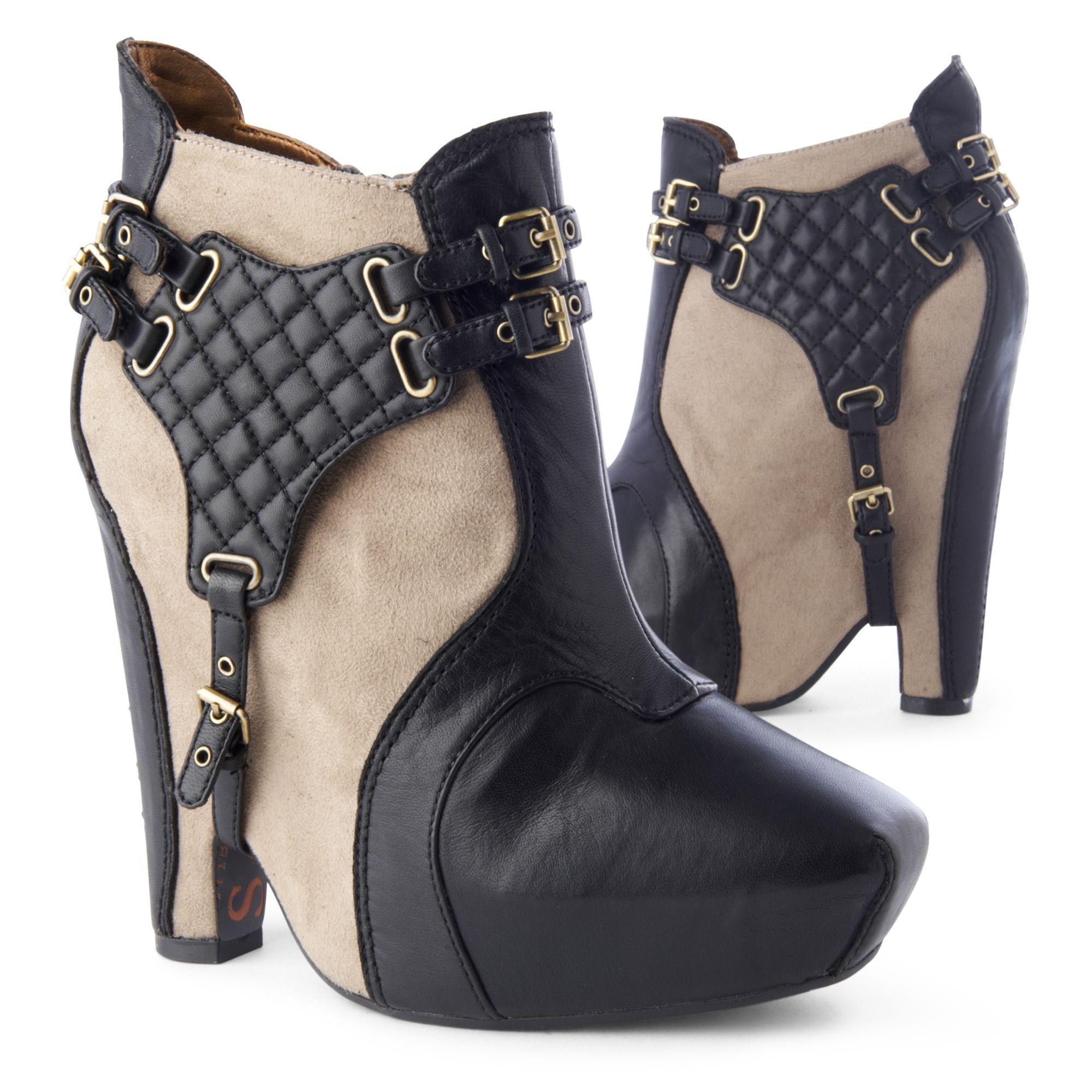 8e6d6e717546 Sam Edelman Zoe Platform Ankle Boots in Black - Lyst
