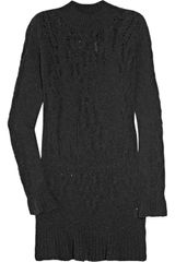 Theyskens' Theory Open-knit Wool Sweater Dress - Lyst