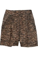 Valentino Lace High-waisted Shorts