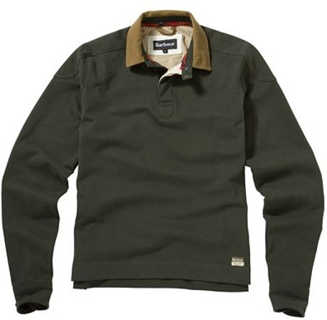 Barbour Eagle Long Sleeve Rugby Shirt Green In Green For
