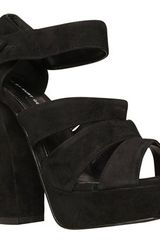 KG By Kurt Geiger Kg By Kurt Geiger Hot Wide Strap Chunky Suede Platform Sandals - Lyst