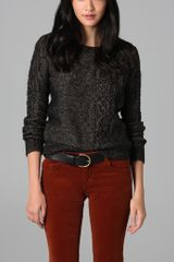 Madewell Cable Knit Crew Neck Sweater - Lyst