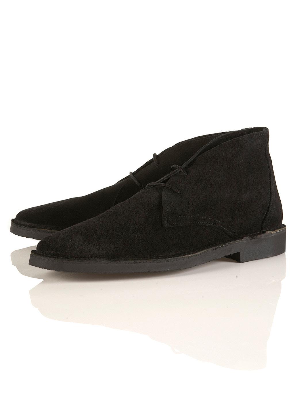 topman karakum desert boot in black for lyst
