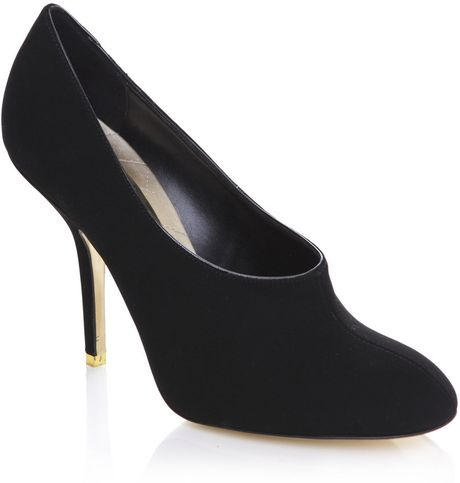 Stella Mccartney Fauxsuede Shoes in Black - Lyst