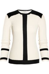 Saint Laurent Knitted Cashmere and Silk-blend Sweater - Lyst
