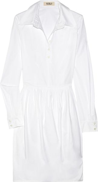 Yves Saint Laurent Cotton-twill Shirt Dress - Lyst