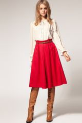 ASOS Collection Asos Midi Skirt with Belt - Lyst
