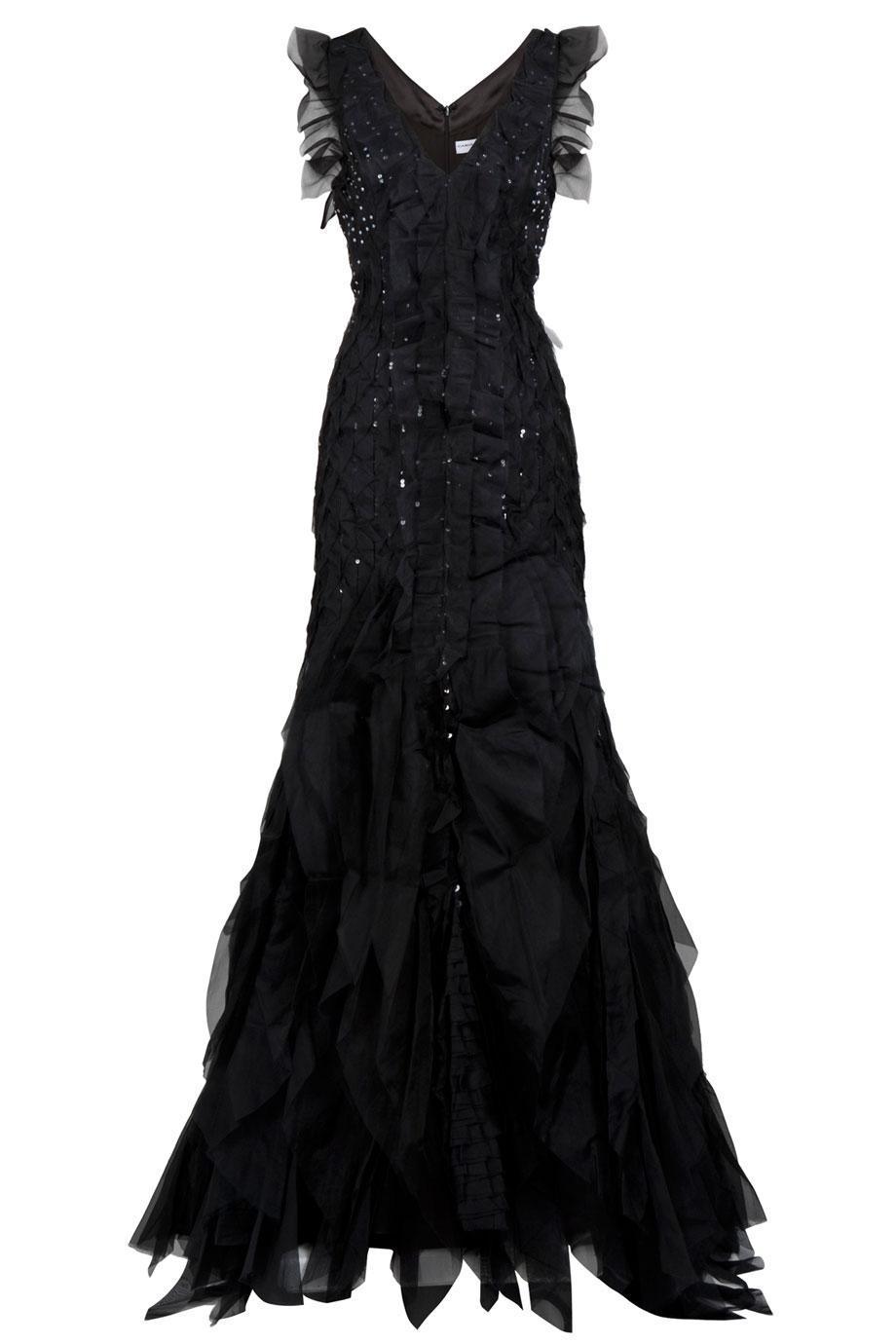 Carolina Herrera Scattered Crystal Gown In Black Lyst