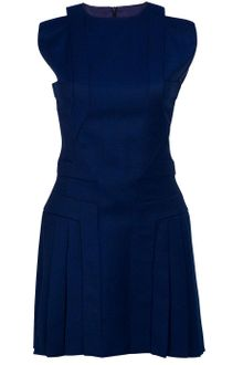 Hakaan Wool Mini Pleat Dress - Lyst