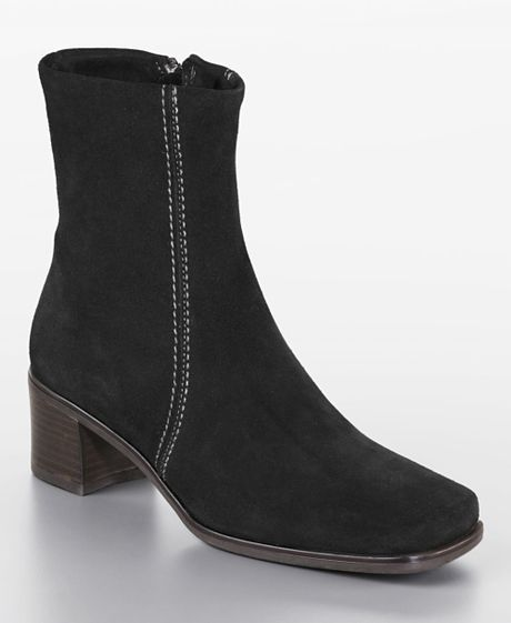 La Canadienne Jilda Calf Suede Boots in Black (black suede)
