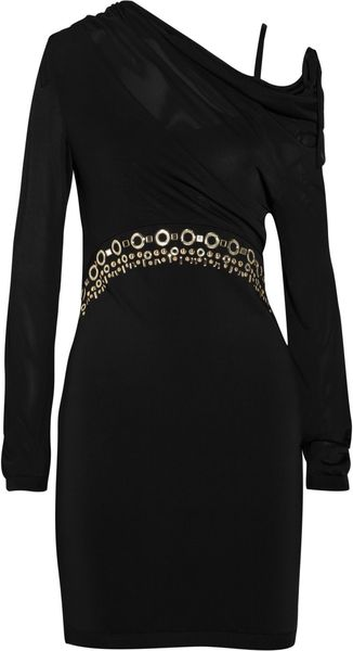 Moschino Embellished Jersey Dress - Lyst