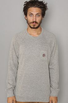 Obey The Windsor Sweater in Heather Grey - Lyst