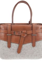 Reed Krakoff Boxer Leather and Wool Tote