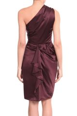 Roksanda Ilincic Oneshouldered Dress in Purple (burgundy) - Lyst