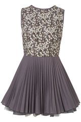 Topshop Liberty Print Julia Dress  in Gray (grey) - Lyst