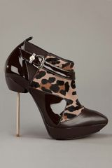 Versace Pony Skin Ankle Boot in Brown - Lyst