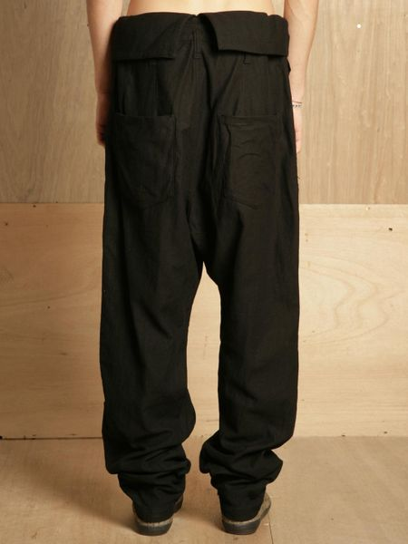 Yohji Yamamoto Mens High Waisted Pants In Black For Men Lyst