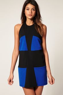 ASOS Collection Asos Shift Dress in Colour Block - Lyst