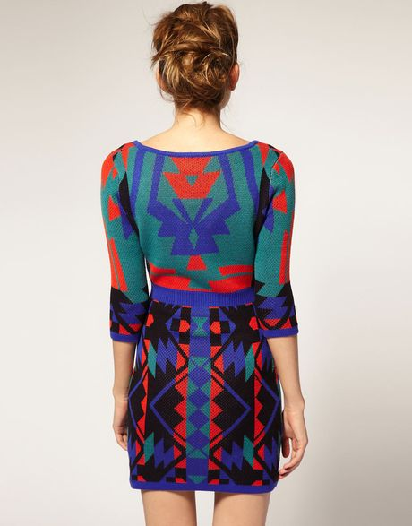 Navajo Clothing Patterns http://www.lyst.com/clothing/asos-collection-multi-asos-knitted-bodycon-dress-in-navajo-pattern/
