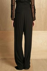 Damir Doma Womens High Waisted Dropped Crotch Trousers in Black - Lyst