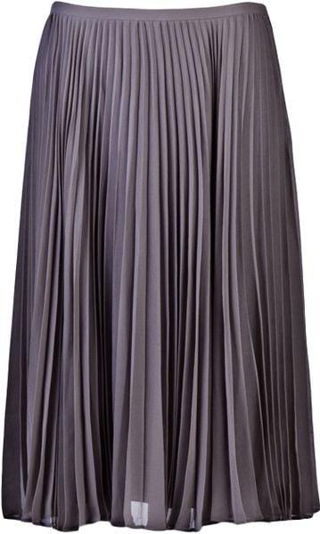 Halston Heritage Pleated Skirt in Gray (ash)