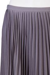Halston Heritage Pleated Skirt in Gray (ash) - Lyst