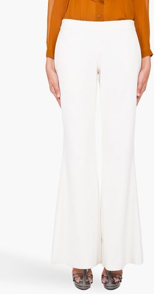 Hussein Chalayan Flared Trousers in White (ivory) - Lyst