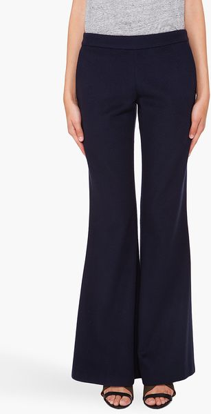 Hussein Chalayan Flared Trousers in Black (navy) - Lyst