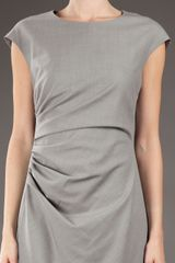 Max Mara Studio Shortsleeved Dress in Gray (grey) - Lyst