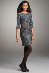 Philosophy di Alberta Ferretti Forest-print Dress - Lyst