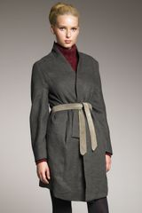 Theyskens' Theory Short Trench Coat - Lyst
