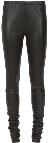 Ann Demeulemeester Leather Leggings - Lyst