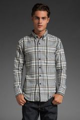 Naked & Famous Regular Shirt in Grey Selvedge Flannel - Lyst