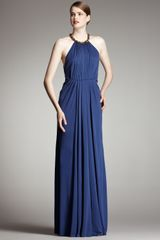 Robert Rodriguez Black Label Jennifer Halter Gown, Ocean - Lyst