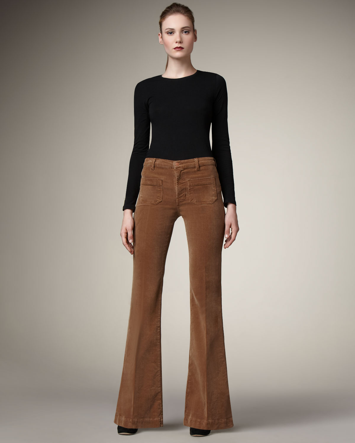 J brand Ali Wide-leg Corduroy Pants, Toffee in Brown | Lyst