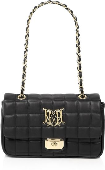 Love Moschino Black Quilted Crest Shoulder Bag - Lyst