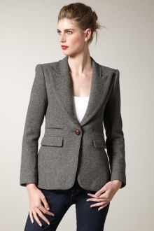 Smythe Structured Flannel Blazer - Lyst