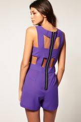 ASOS Collection Asos Cut Out Back Playsuit - Lyst