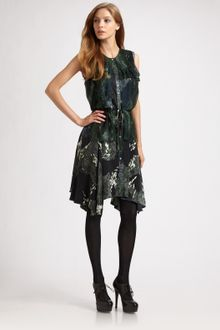 Edun Silk Asymmetrical Hem Dress - Lyst